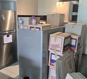 Packing up the kitchen