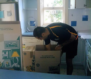 Pack and move - kitchen area - Manly removals job, Sydney