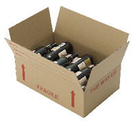 flat wine packing box